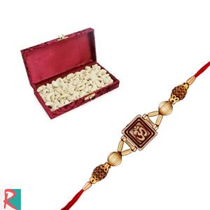 Cashew box with onkar rakhi