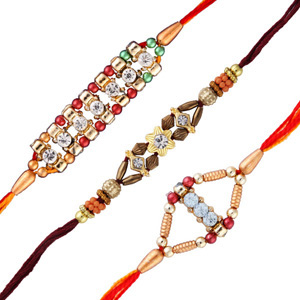 3 diamond rakhi set