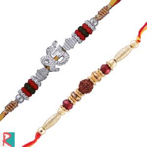 2 rakhi onkar and rudraksha