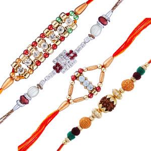 4 diamond rakhi sets