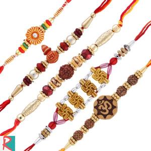 5 moli rakhi set for brothers