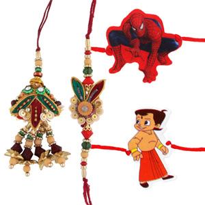 Four rakhi set 6
