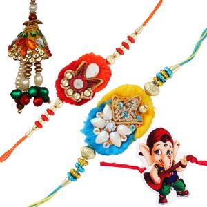 Four rakhi set 14