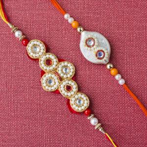 Amazing White beads 2 rakhi