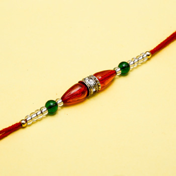 Red beads pearl rakhi
