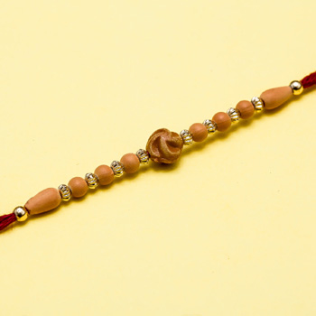 Beads symbol thread rakhi