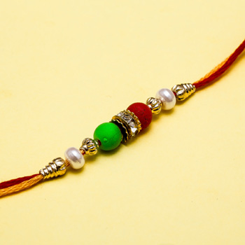 Colourful dainty rakhi