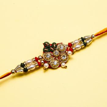 Floral zardozi string pearls